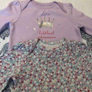 Baby Gap Onesie Set Floral Crown 18-24 Months